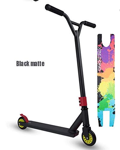 Bike Lee PRO Stunt Scooter Freestyle Via Navigare Monopattino Trucco Skatepark BMX Manubrio Professionale di Sport di Estremo Scooter,Nero