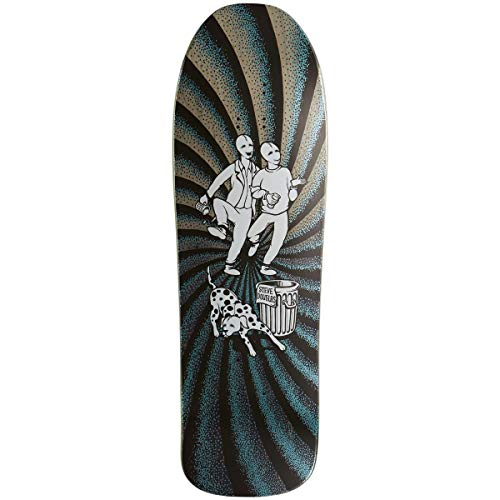 New Deal Deck Skate Deck Douglas Chums Metal HT Black 9.75 x 31.3