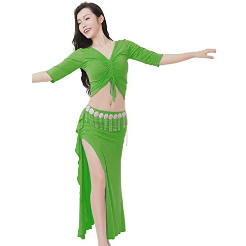 Ansemen Mujer Adulto Danza del Vientre Traje de Entrenamiento Indio Halloween Carnaval Actuacin Disfraz