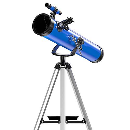Tragbare Anfänger Astronomie-Teleskop for Kinder & Erwachsene Mit Justierbarem Stativ, Alle Metallhalterung, 114mm Mit Großem Durchmesser, Reise Sternen Fernrohr (Color : Package 1)