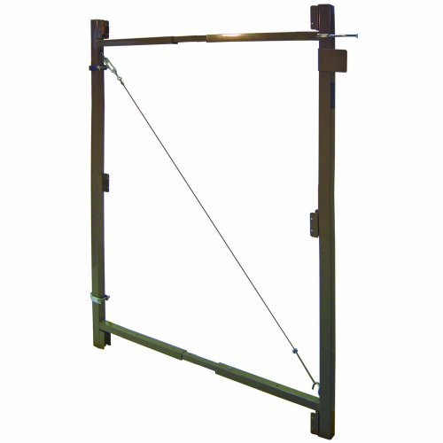 "Fence Walk Through Gate Kit - Adjust-A-Gate Steel Frame No Sag Gate Building Kit - This anti-sag gate kit is perfect for repairing existing sagging gates or building new ones. (36""-60"" wide openings up to 7' high fence)"