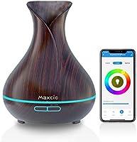 Dyfuzor olejków eterycznych, Maxcio 5 w 1 Wi-Fi Smart ultradźwiękowa aromaterapia pachnący olejek nawilżacz, timer i...