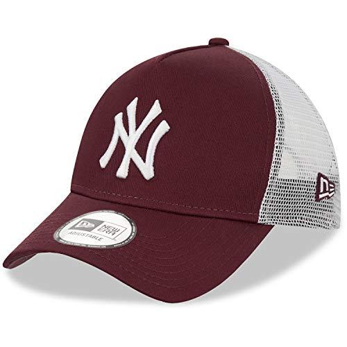 New Era York Yankees - Gorra Ajustable para Camionero, Hombre, Gorra para Hombre, 12523895, Rubí, Talla única