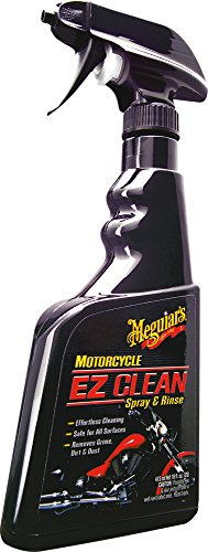Meguiar's Motorcycle EZ Clean Spray & Rinse – Easy All-Surface Motorcycle Cleaning – MC20016, 16 oz