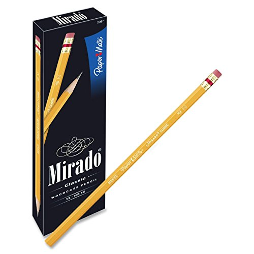 Paper Mate Mirado Classic Pencils, Wood, HB #2, 12 Count