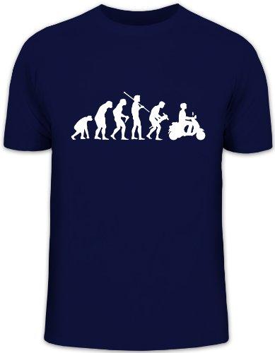 Shirtstreet24, EVOLUTION MOTORROLLER, Mofa Funshirt, Größe: XL,dunkelblau