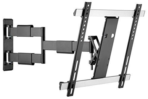 RICOO S3344, TV Wandhalterung Schwenkbar Neigbar, Universal 32-55 Zoll LED Flach-, Curved-Display Fernseher-Halterung, bis 30Kg & VESA 200x200-400x400