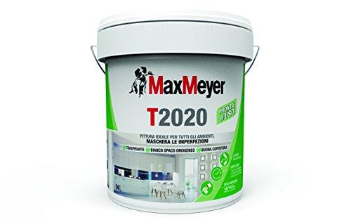 MaxMeyer Pittura per interni Traspirante T2020 BIANCO 14 L, 10-12 mq/litro