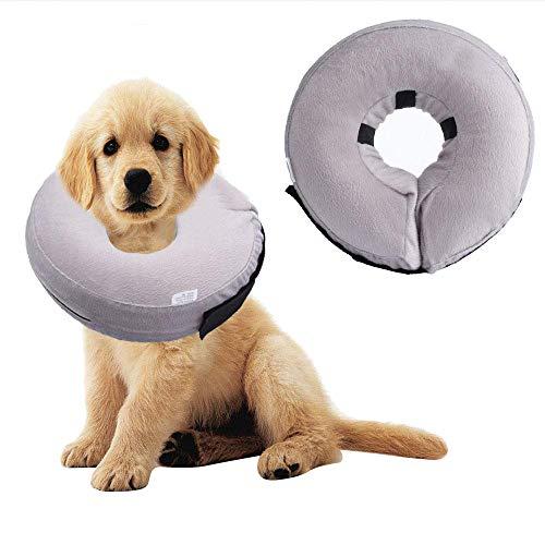 Defrsk Collar Hinchable para Perro, cómodo Inflable protección de Mascotas Cubierta Collar...