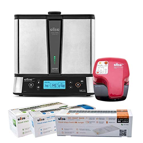 Oliso SmartTop and SmartHub Induction Cooktop Sous Vide Cooking System, 11 Quart Capacity + Oliso Pro VS95A Smart Vacuum…