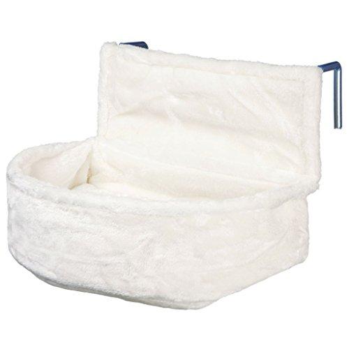 Trixie 43140 Kuschelsack für Heizkörper, Plüsch, 45 × 13 × 33 cm, weiß