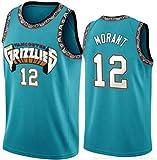 Zxwzzz Baloncesto Jersey-Memphis Grizzlies del Baloncesto Cortocircuitos No.12 Ja Morant, Vintage Jersey Comfort Tela (Color : C, Size : Small)