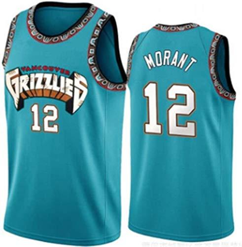 Zxwzzz Pallacanestro Jersey-Memphis Grizzlies Basketball Shorts No.12 JA Morant, Jersey Comfort Tessuto Vintage (Color : C, Size : Large)