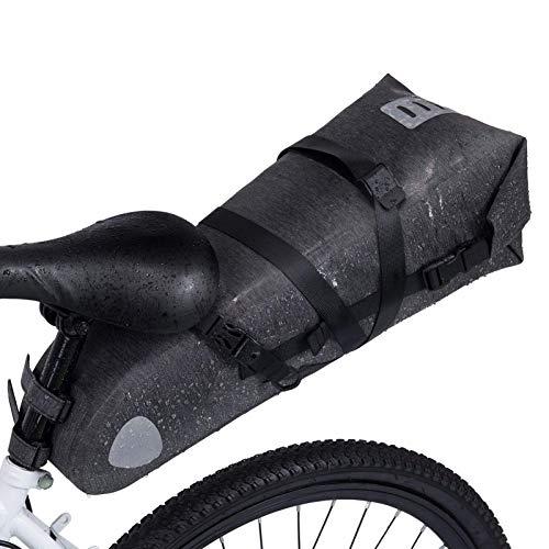 Wildken Satteltasche Wasserdicht 10L Fahrradtasche Fahrradsattel Tasche für Rennrad Mountainbike (Grau)
