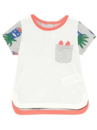 Little Marc Jacobs T-Shirt Corail et Gris - 6 Mois, Gris Clair