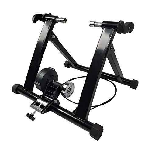 BITOWAT Turbo Trainer - Soporte de entrenamiento para bicicleta, plegable, para interiores, para entrenamiento de bicicleta, reducción de ruido, marco de acero, varias resistencias