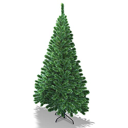 BenefitUSA Half Christmas Tree Beautifully Crafted Design Half Tree w/Steel Base (6 Ft)