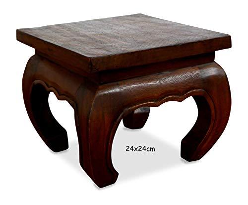 livasia Kleiner Opiumtisch, Beistelltisch, Nachttisch, Holztisch, Hocker, Podest (24cm)