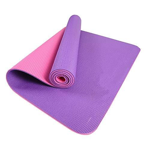 8bayfa PVC Tapis de Yoga et Allongement Épaississement élargissement for Les Hommes et Les Femmes débutants antidérapants Sport Sit-ups Formation Mats Accueil.1223 (Color : Purple, Size : 8mm)
