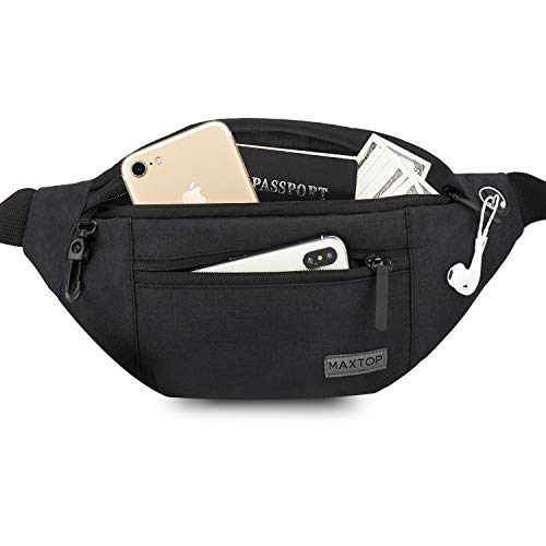 MAXTOP Large Bumbag Waist Fanny Pack for Men Women Unisex Bum Bag with...