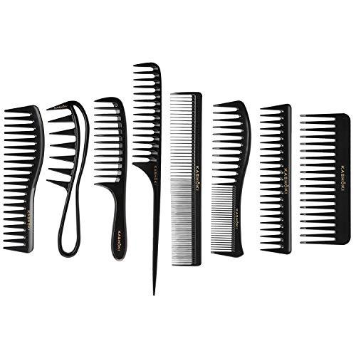T4B KASHOKI Set 8 Pcs Peignes De Haute Qualité Pour Cheveux