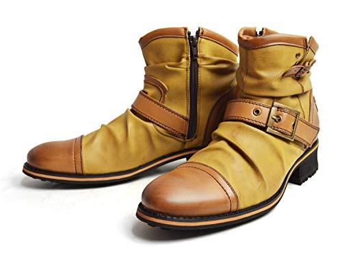 [ジーノ] ドレープ エンジニア ブーツ ショート ze2468 LBR 26cm