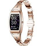 Pard Women's Smart Watch, Heart Rate Blood Pressure Monitor, Female's Menstrual Reminder, Night Sleep Tracker for iOS Android Smartphone, Gold