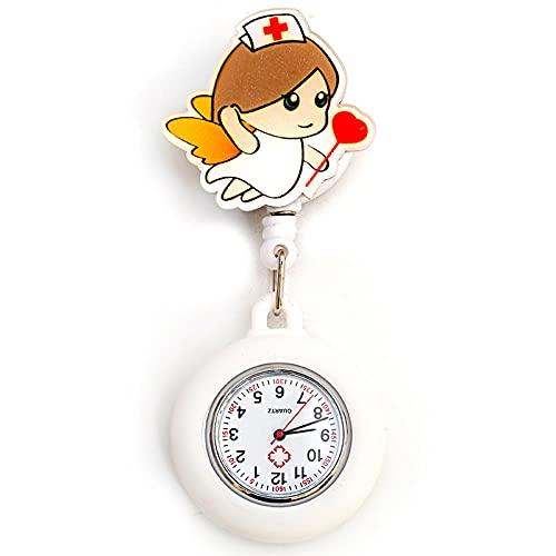 LLRR Reloj de Enfermera,Nuevas Enfermeras del Doctor de la luz de la Noche del silicón, Tabla Digital escalable-AA,Esfera Redondo Reloj de Enfermera