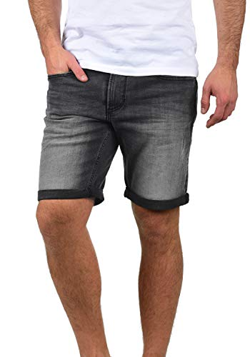 Blend Grilitsch Herren Jeans Shorts Kurze Denim Hose Mit Destroyed-Optik Aus Stretch-Material Slim Fit, Größe:M, Farbe:Denim Dark Grey (76209)