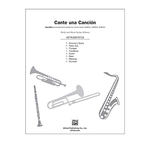 Alfred 00-28845 Cante Una canci-n-Sing a Song - Music Book