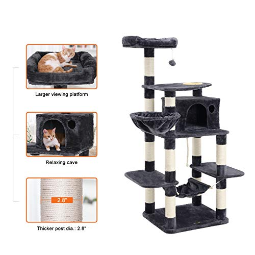 FEANDREA 63.8 inches Sturdy Cat Tree