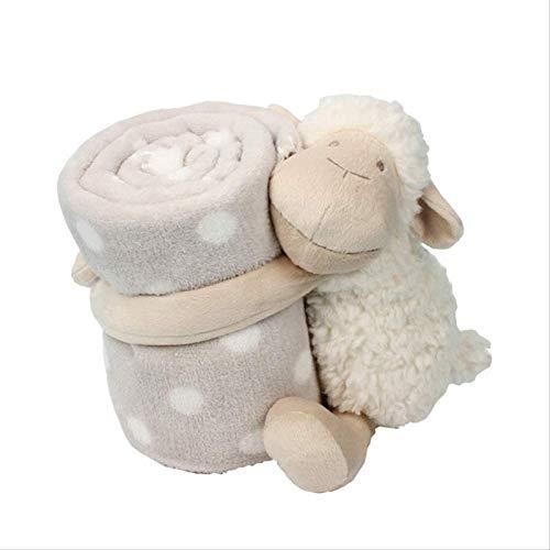 Dlcvko Ovejas de Felpa sostiene la Alfombra a la Caja de Juguetes para darle una cómoda Postura para Dormir bebé Amable compañero
