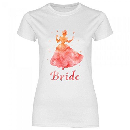 Royal Shirt rs133 Damen T-Shirt Orangene Prinzessin Bride | JGA Braut Team Hochzeit, Größe:L,...