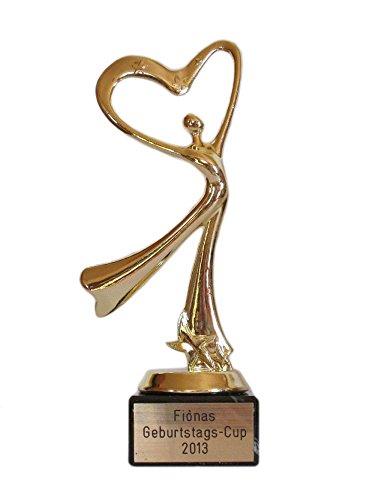 RaRu Geschenk-Pokal (Herz Dame) mit Ihrer Wunschgravur