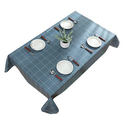 Donkerblauwe stijl eenvoudige tafelkleden in Scandinavische stijl effen kleur geruite tafelkleed tafelkleed tafelkleed rechthoekige tafelkleed Liuyu.