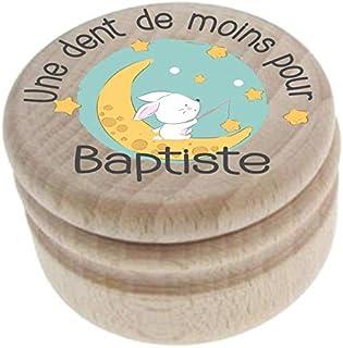 Boite à Dents de Lait en bois - Personnalisée avec le prénom de l'enfant + Texte personnalisable – Dents de la petite sour...