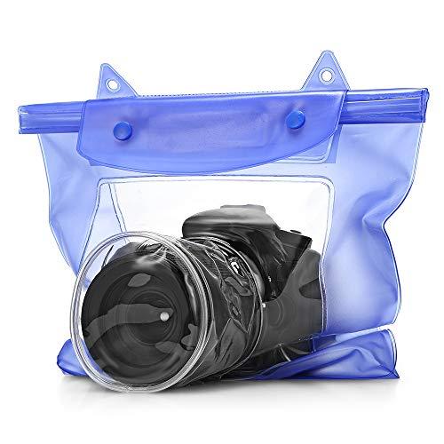 wangruimei Funda Impermeable para teléfono + Bolsa, Funda Impermeable para Playa, natación, canotaje, Kayak, Senderismo (Blue?2pcs?)
