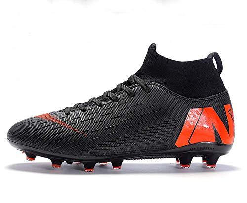 JJZXLQ - Zapatillas de fútbol para hombre, atlétismo, entrenamiento, zapatillas de fútbol altas, estudiantes, hombres y mujeres, zapatillas de entrenamiento para uñas AG, B, 40