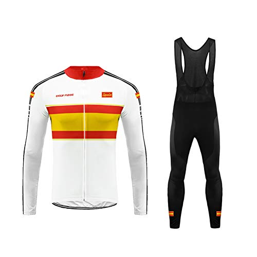 Uglyfrog Maillot Conjunto Ciclismo Culotte Ciclismo Invierno para Hombre Térmico Equipo Ciclista GQX06F