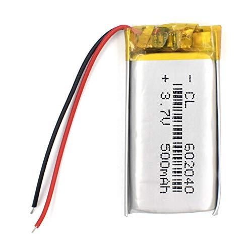 N/V 3.7V 500mAH polímero de Iones de Litio / batería Recargable de Iones de Litio con PCB para DVD GPS mp3 mp4 PSP PDA Reloj Inteligente 2Pcs
