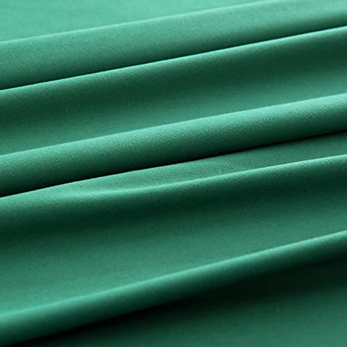 KKJIAF 3 Piece Bed Sheet Set, Microfiber Bed Sheet Twin Size, 1800 Thread Count Microfiber Soft & Breathable Bedding Sheet Sets, Deep Pocket Fitted Sheet, Flat Sheet and 1 Pillowcases - Dark Green