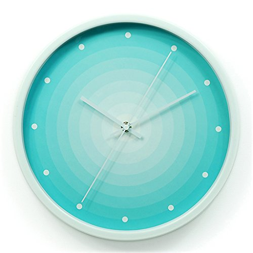 MEILING Bleu, créatif, mode, mur, horloge, simple, moderne, salon, mur, horloge (Couleur : Blanc)