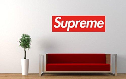 Hypestuff Supreme Zelfklevend doos-logo, wandposter/wandafbeelding, hoogwaardige modieuze poster voor modieuze wanddecoratie