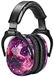 ZOHAN EM030 Kids Ear Protection Safety Ear Muffs, [Upgraded] Hearing Protectors for Children Have Sensory Issues, Adjustable Noise Reduction Earmuffs for Concerts, Fireworks, Air Shows - Nebula Print
