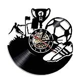 MASERTT Fútbol Reloj de Vinilo Reloj de Pared de fútbol Tema...