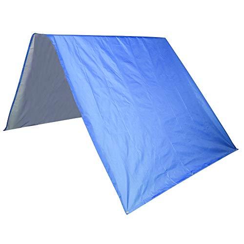 Emoshayoga Toldo del Dosel del tejado del tafetán del poliéster 190T para los Patios para los Jardines(Blue)
