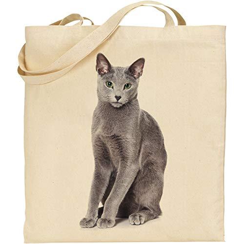 C&S Bolsa de algodón Reutilizable para Gato Azul Ruso 2438