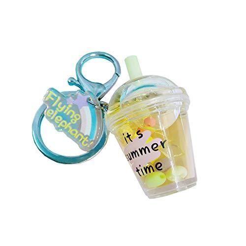 Viesky Süßer Kaffeebecher, Puppenhaus, Miniatur-Schlüsselanhänger für Lebensmittel, Trinkflasche, Quicksand