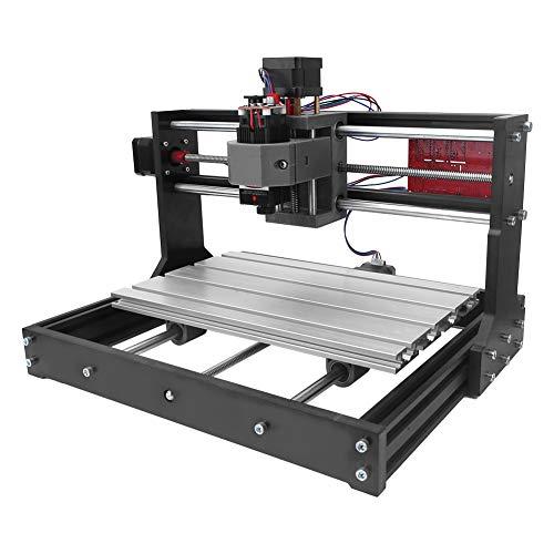 CNC Graver, CNC 3018 Pro / Mini 2500 mW Máquina de grabado DIY GRBL Router de 3 ejes con controlador sin línea para el grabado de plástico, acrílico, madera, PVC, PCB, etc. (enchufe europeo)