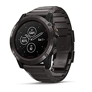 Garmin fēnix 5X Plus, Ultimate Multisport GPS Smartwatch, features Color Topo Maps And Pulse Ox, Heart Rate Monitoring, Music and Pay, Gray W/ Titanium Band (010-01989-04) (B07DXR1V9D) | Amazon price tracker / tracking, Amazon price history charts, Amazon price watches, Amazon price drop alerts